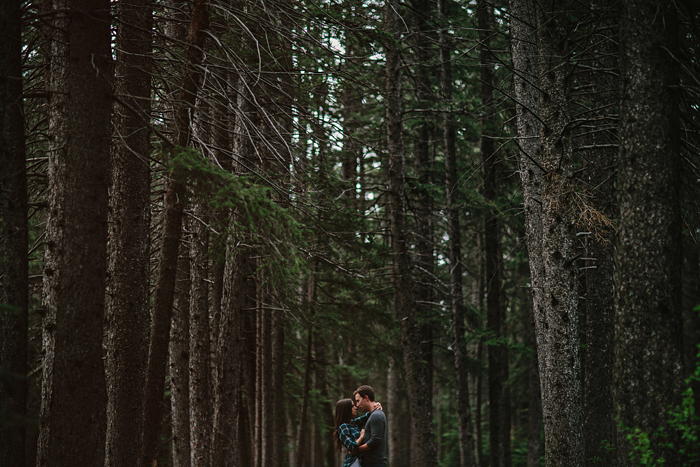 calgary, wedding, photographers, engagement, connection, forest, embrace, love, ©Gabe McClintock | www.gabemcclintock.com