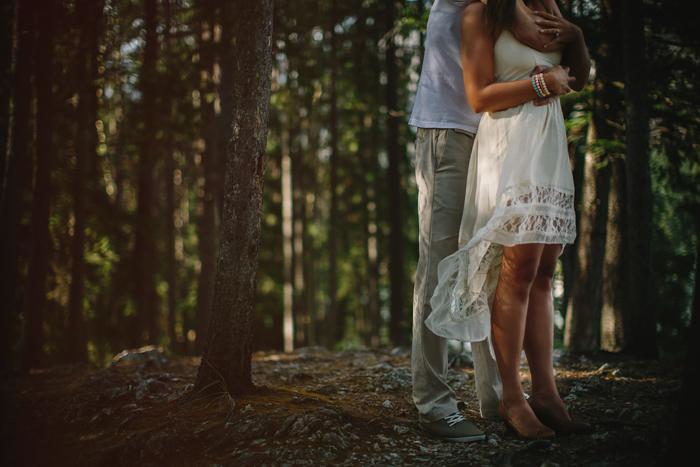 canada wedding photographer, engagement, connection, embrace, mountains, wedding, lake minnewanka, alberta, calgary, ©Gabe McClintock | www.gabemcclintock.com