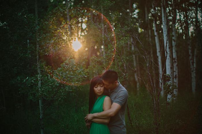 connection, engagement, wedding, photography, embrace, couple, love, flare, canon, fish creek park, calgary, alberta, canada, ©Gabe McClintock | www.gabemcclintock.com