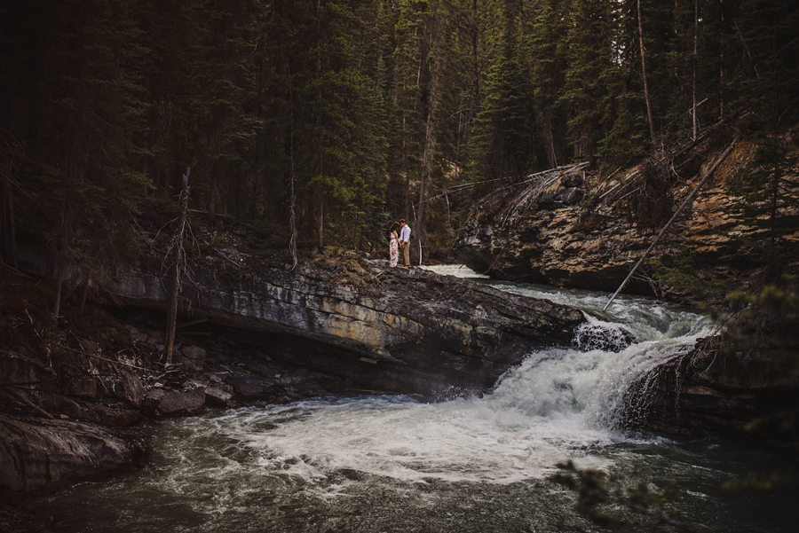 banff photographer, connection, engagement, chasing light, johnston canyon, mountains, nikon, D750, VSCO, @Gabe McClintock | www.gabemcclintock.com