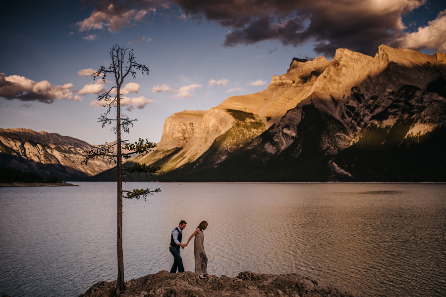Lake Minnewanka photographer, explore Alberta, connection, sunset, chasing light, nikon d750, vsco, © Gabe Mcclintock Photography | www.gabemcclintock.com