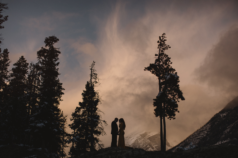 banff wedding photographer, banff photographer, banff wedding photography, canmore wedding photographer, mountain weddings, mountain photography, explore Alberta, connection, sunset, chasing light, © Gabe Mcclintock Photography | www.gabemcclintock.com